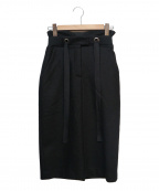 AULA(アウラ)の古着「ウールタイトスカート」|ブラック