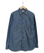 WAREHOUSE(ウェアハウス)の古着「Cast Iron Chambray shirt シャツ」|インディゴ