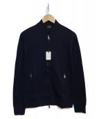 JIL SANDER(ジルサンダー)の古着「ニットジャケット」|ネイビー