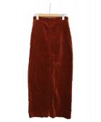 AURALEE(オーラリー)の古着「WASHED CORDUROY SLIT LONG スカート」|ブラウン