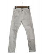 BLAMINK(ブラミンク)の古着「ホワイトデニムパンツ」|ホワイト