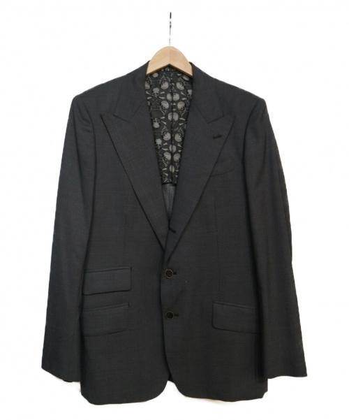 Roen(ロエン)Roen (ロエン) ウールシルクテーラードジャケット グレー サイズ:48の古着・服飾アイテム