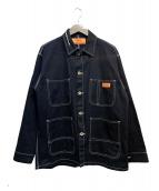 UNIVERSAL OVERALL(ユニバーサルオーバーオール)の古着「カバーオール」|ブラック