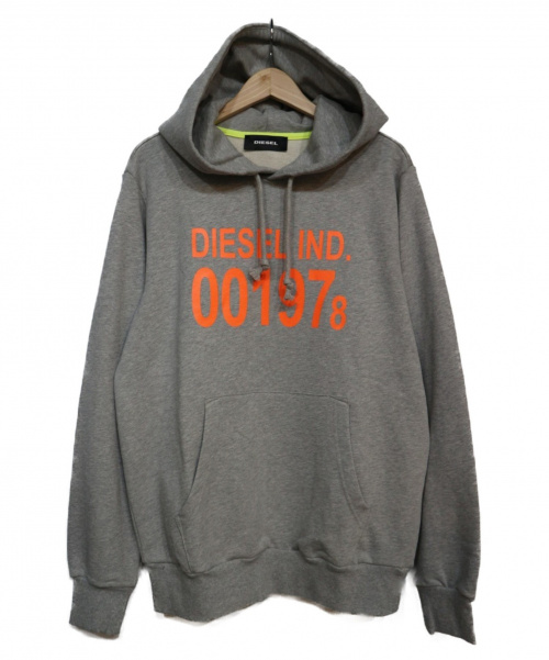 DIESEL(ディーゼル)DIESEL (ディーゼル) S-GIRK-HOOD パーカー グレー サイズ:Mの古着・服飾アイテム