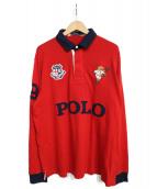 POLO RALPH LAUREN(ポロラルフローレン)の古着「キッカーベアラガーシャツ」|レッド