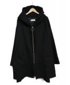 NEON SIGN(ネオンサイン)の古着「フーデッドコート」|ブラック