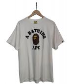 A BATHING APE(アベイシングエイプ)の古着「フェイスプリントTシャツ」|ホワイト