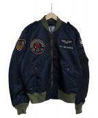 TED MAN(テッドマン)の古着「L-2Bフライトジャケット」 ネイビー