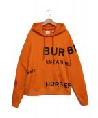 BURBERRY(バーバリー)の古着「プルオーバーパーカー」|オレンジ