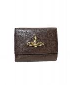 Vivienne Westwood(ヴィヴィアン・ウエストウッド)の古着「3つ折り財布」|ブラウン