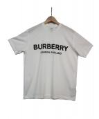BURBERRY LONDON(バーバリーロンドン)の古着「Carrick Logo Print Cotton Tee」|ホワイト