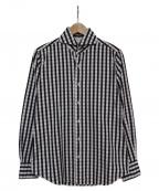 finamore(フィナモレ)の古着「チェックシャツ」 ブラック×パープル
