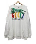 GUCCI(グッチ)の古着「タイガースパンコールスウェット」|ベージュ