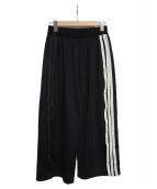 Y-3(ワイスリー)の古着「3stripe wide leg track pants 」|ブラック