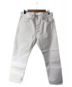lideal(リデアル)の古着「セルビッチデニムパンツ」|ホワイト