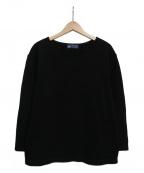 SAINT JAMES(セントジェームス)の古着「バスクシャツ」 ブラック