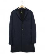 HARRIS WHARF LONDON(ハリスワーフロンドン)の古着「オーバーチェスターコート」|ネイビー