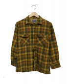 PENDLETON(ペンドルトン)の古着「ウールチェックシャツ」 ベージュ