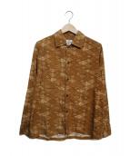 Needles(ニードルス)の古着「総柄コットンシャツ」|ベージュ