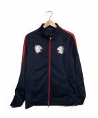 GUILD PRIME(ギルドプライム)の古着「刺繍トラックジャケット」|ネイビー