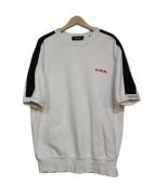 DIESEL(ディーゼル)の古着「半袖スウェット」|ホワイト