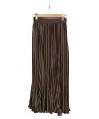 Uhr(ウーア)の古着「Long Flare Skirt スカート」|バーガンディー