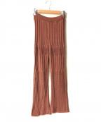 Spick and Span(スピックアンドスパン)の古着「Lace Patternニットパンツ」|ブラウン