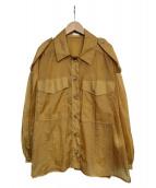 RITO(リト)の古着「SHEER SHIRTS シャツ」|ベージュ