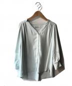 La TOTALITE(ラトータリテ)の古着「袖レースVネックシャツ」|ブルー