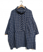 Porter Classic()の古着「PALAKA ZIP UP SHIRT」|ブルー