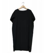 Demi-Luxe BEAMS(デミルクスビームス)の古着「とろみVネックドルマンワンピース」|ブラック