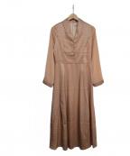 EmiriaWiz(エミリアウィズ)の古着「ショールカラーサテンワンピース」 ピンク