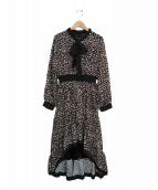 EmiriaWiz(エミリアウィズ)の古着「レオパードヘムワンピース」|ブラック