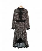 EmiriaWiz(エミリアウィズ)の古着「レオパードヘムワンピース」 ブラック