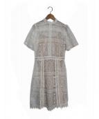 EmiriaWiz(エミリアウィズ)の古着「カットワークレースワンピース」|ベージュ