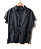 AMACA(アマカ)の古着「プレーンクロススキッパーシャツチュニック」 ネイビー