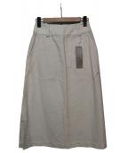 MARGARET HOWELL(マーガレットハウエル)の古着「コットンリネンキャンバススカート」 ホワイト