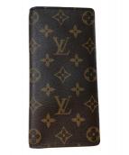 LOUIS VUITTON(ルイヴィトン)の古着「ポルトフォイユ・プラザ」|ブラウン