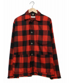 CLASS(クラス)の古着「TEIJI WOOL BROCK CHECK JACKET」|レッド