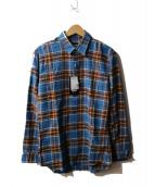 DSQUARED2(ディースクエアード)の古着「チェックシャツ」 ブルー×パープル
