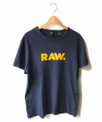 ()の古着「ロゴTシャツ」 ネイビー×イエロー