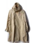 DANTON(ダントン)の古着「ナイロンフードコート」|ベージュ