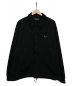 FRED PERRY(フレッドペリー)の古着「JERSEY COACH JACKET」|ブラック