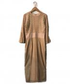 LAGUNA MOON(ラグナムーン)の古着「LADYダイヤレースワンピース」|ベージュ