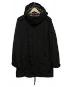 BURBERRY BLACK LABEL(バーバリーブラックレーベル)の古着「フーデッドジャケット」|ブラック