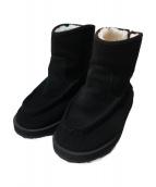 suicoke(スイコック)の古着「ショートムートンシームブーツ」|ブラック