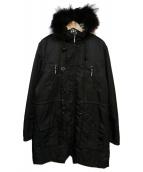 BURBERRY BLACK LABEL(バーバリーブラックレーベル)の古着「モッズコート」|ブラック