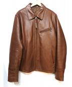 Freeclom(フリークロム)の古着「レザージャケット」 ブラウン
