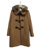BEAUTY&YOUTH(ビューティーアンドユース)の古着「メルトンファーフードライナーコート」|ベージュ