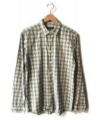 ()の古着「チェックシャツ」|ホワイト×ブラック
